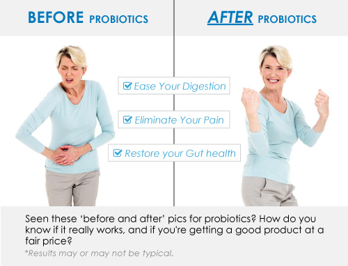 probiotics before and after